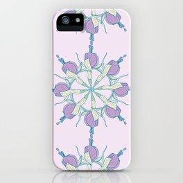 Fuchsia Mandala Pattern iPhone Case