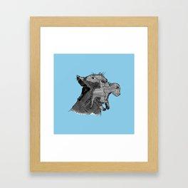Newspaper Lions Framed Art Print