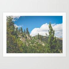 Lake Tahoe Mountains Art Print