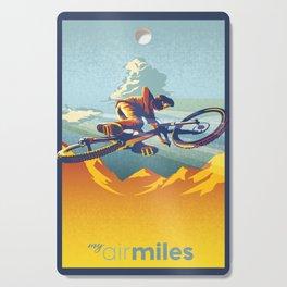 "Retro Mountain Bike Poster/ Illustration / fine art print 11X17""  My AirMiles Cutting Board"