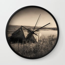 The Old Fishing Boats Wall Clock