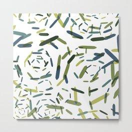 Julian, geometric in green and blue Metal Print