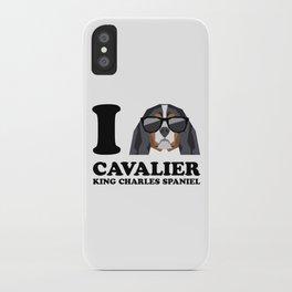 I Love Cavalier King Charles Spaniel modern v1 iPhone Case