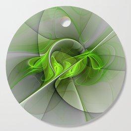 Abstract Green Fractal Art Cutting Board
