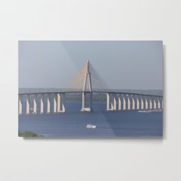 Bridge over the Amazon Metal Print