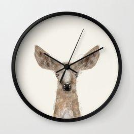 little deer fawn Wall Clock