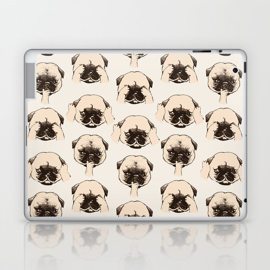 No Evil Pug Laptop & iPad Skin