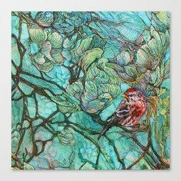 The Aquamarine Labyrinth (detail no. 2) Canvas Print