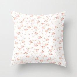 Baby Pink Rosebuds Throw Pillow