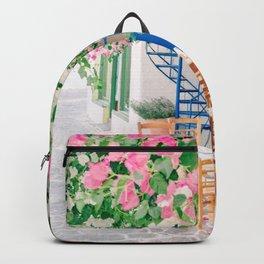 Milos 0018: Bougainville, Plaka, Milos, Greece Backpack