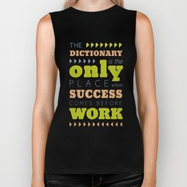 Work Before Success - Mark Twain Quote Biker Tank