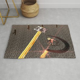Squared: Hammer And Sickle Rug