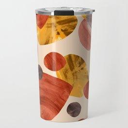 Mid-century Modern Papercut Shapes Travel Mug
