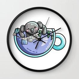 Kawaii Cute Koala-Tea Quality Pun Wall Clock