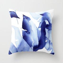 Royal Blue Palms no. 2 Throw Pillow