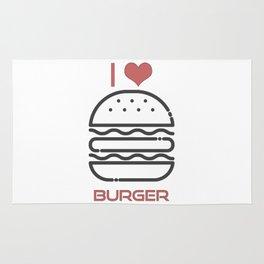 I Love Burger - BBQ Barbecue Grill Design Rug