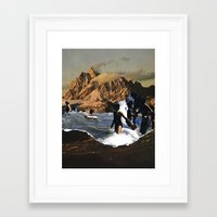 breaking Framed Art Prints featuring Breaking by Lindsey Boss