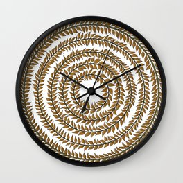 Merry go round (gold) Wall Clock