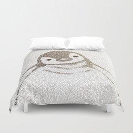 The Little Intellectual Penguin Duvet Cover