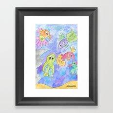 Flower Fish Framed Art Print
