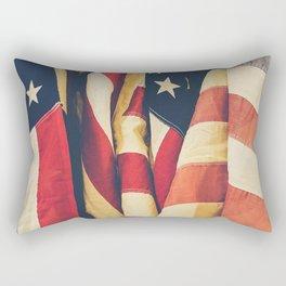 American flag 4 Rectangular Pillow
