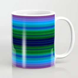 Bright Lined Light Blue Green Colors Coffee Mug