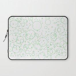 Green Bubbles Laptop Sleeve