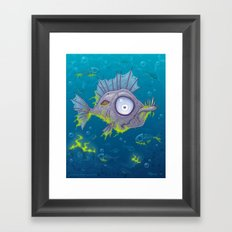 Zombie Fish Framed Art Print