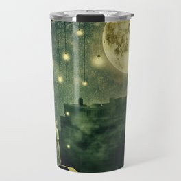 rooftops mystery night Travel Mug