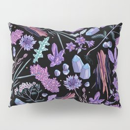 Purple flowers and jewels. Pillow Sham