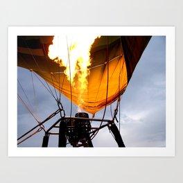 Hot air balloon Art Print