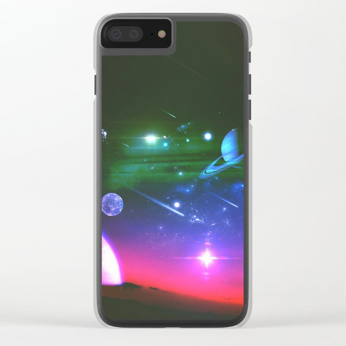 Cosmic Network Clear iPhone Case