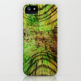 Concept abstract : Musica est in aere iPhone Case