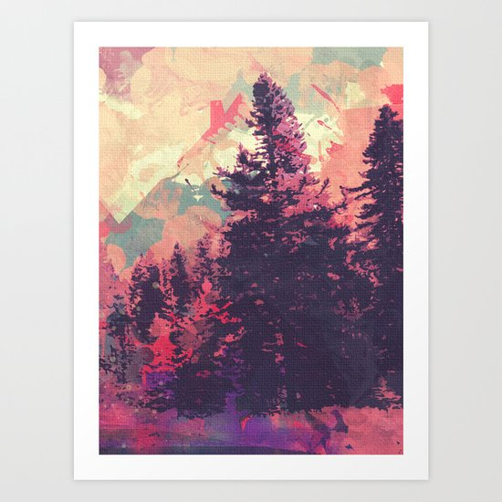 colorful forest n1 Art Print