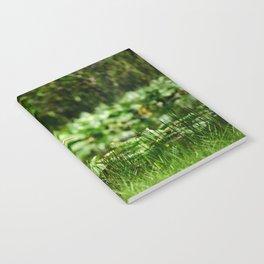 Great Egret in a Green Field Notebook