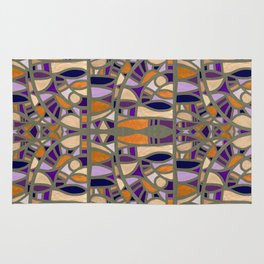 Gaudy Gaudi orange & purple Rug