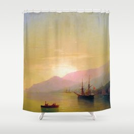 Ships at anchor by Ivan Aivazovsky Shower Curtain