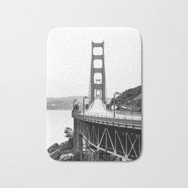 Golden Gate Bridge Black and White Bath Mat