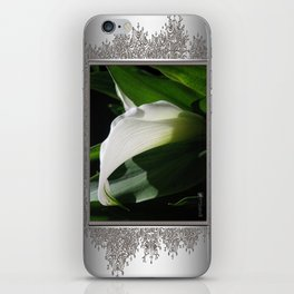 Zantedeschia named Crystal Blush iPhone Skin