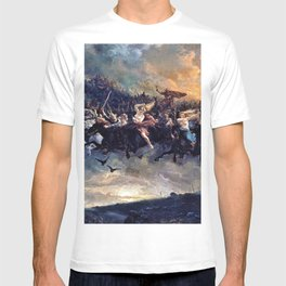 12,000pixel-500dpi - Peter Nicolai Arbo - The Wild Hunt of Odin - Digital Remastered Edition T-shirt