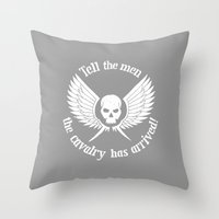 warhammer Throw Pillows featuring Imperial Guard white, Warhammer 40K by ZsaMo Design