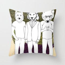 Animammals Throw Pillow