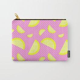 LLEMONADEE - Lemon, Fruit, Fun, Yellow, Pink, Polka Dot, Summer Carry-All Pouch