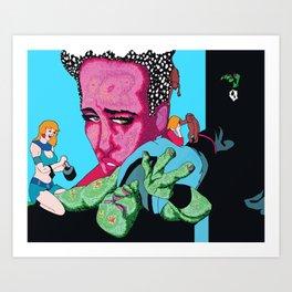 Daddy I Killed an Alien - Just Like You Killed Those Chimpanzees! Art Print