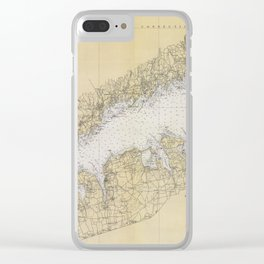 Vintage Map of The Long Island Sound (1934) Clear iPhone Case