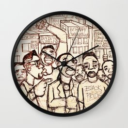2013 Never Accept Less Working For Others Gain  Wall Clock