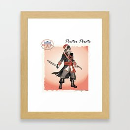 Pewter Pirate of the Buccaneer Coast Framed Art Print