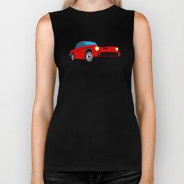 Red Sports Car Illustration Biker Tank