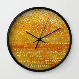 Landscape Dots - Orange Wall Clock