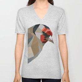 Goldfinch art Geometric art Unisex V-Neck